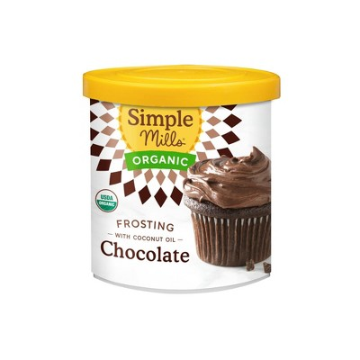 Simple Mills Chocolate Organic Frosting with Coconut Oil - 10oz