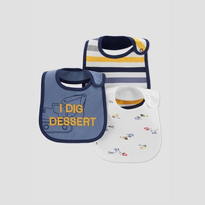 Baby Boys' 3pk Dessert Bib - Just One You® made by carter's Blue
