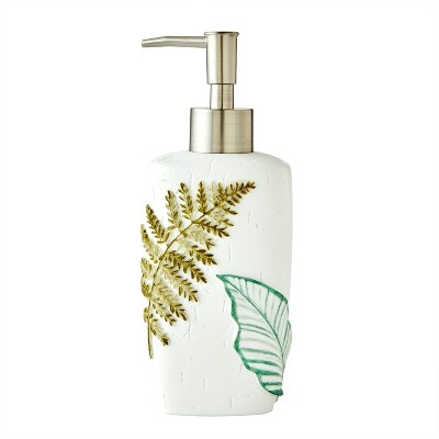 Sprouted Palm Lotion Dispenser White/Green - SKL Home