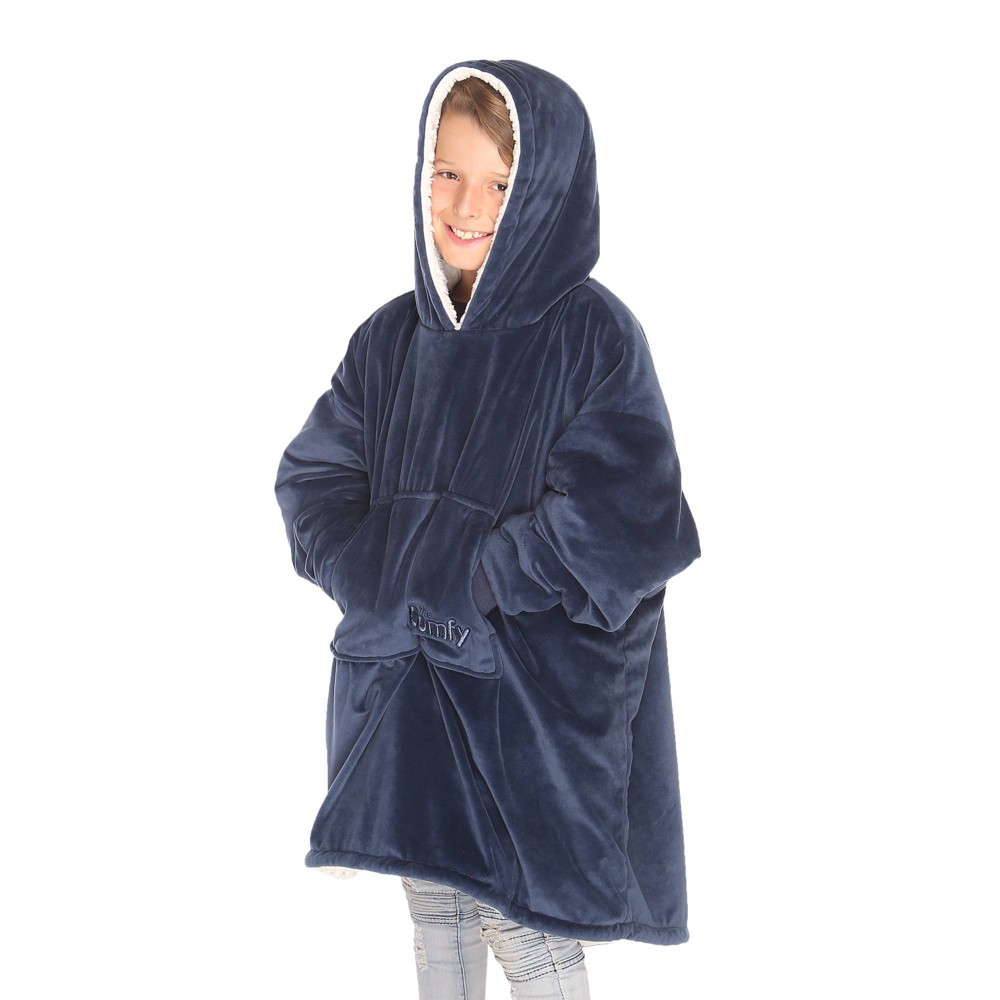 Image of The Comfy Kids Navy, throw blankets