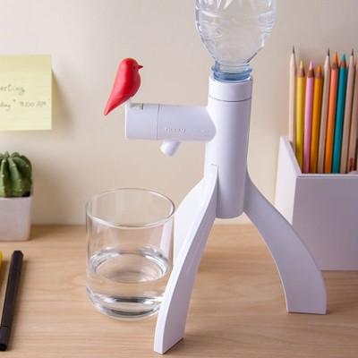 Design Ideas Water Bottle Beverage Dispenser – Drink and Water Dispenser with Bird Decoration