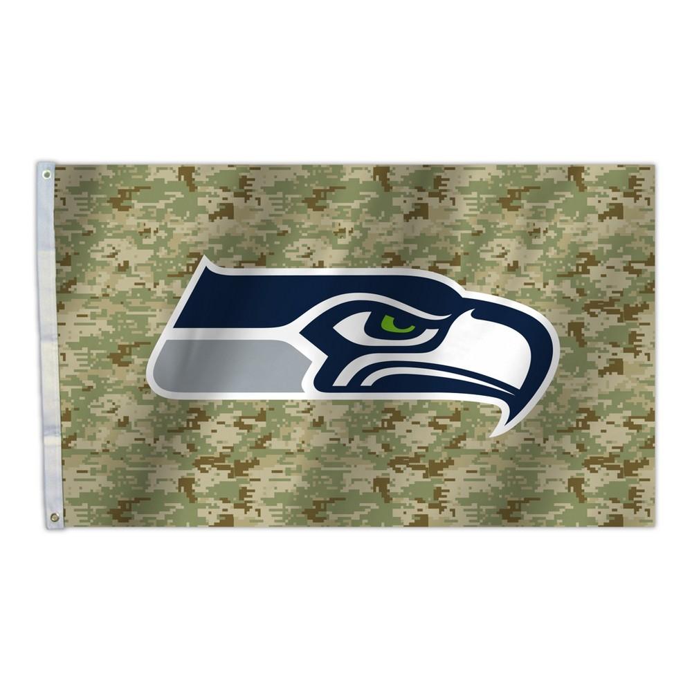 NFL Seattle Seahawks Camo 3'x5' Flag