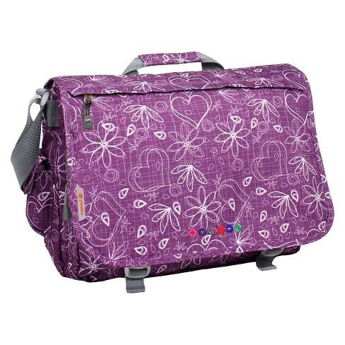 """JWorld Thomas 16"""" Laptop Messenger Bag - Purple - image 1 of 3"""