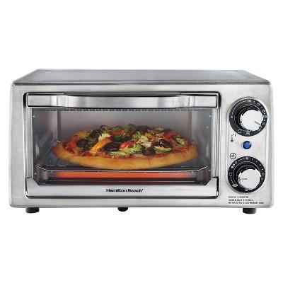 Hamilton Beach Toaster Oven 4 Slice - Stainless Steel