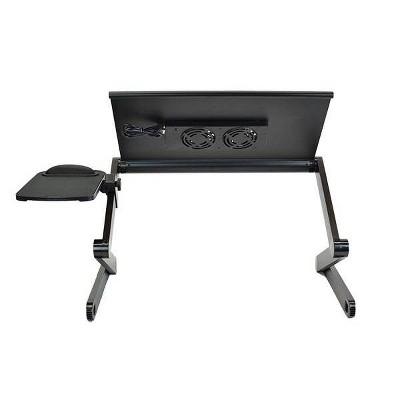 Workez Adjustable Laptop Cooling Stand & Lap Desk Black - Uncaged Ergonomics