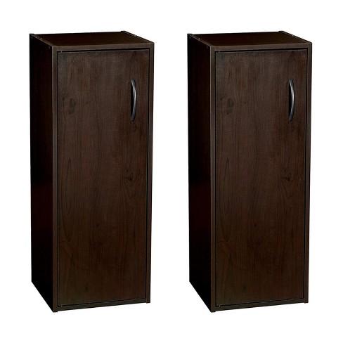 ClosetMaid 899100 Home Stackable 1-Door Storage Organizer, Espresso (2 Pack) - image 1 of 4