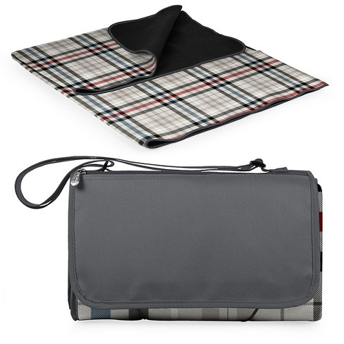 Picnic Time Blanket Tote Carnaby Street Plaid With Gray Flap - Extra Large - image 1 of 7