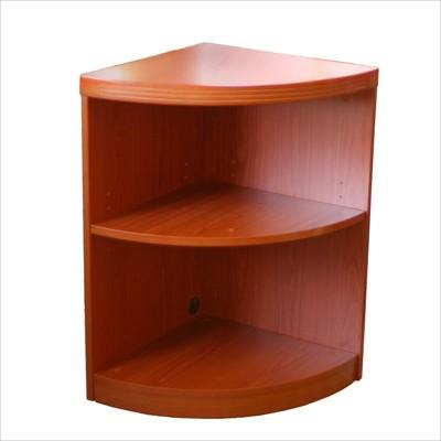 Mayline Aberdeen 2 Shelf Quarter Round Bookcase-Cherry