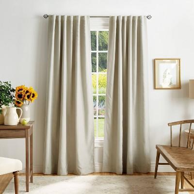 Set of 2 Bedford Woven Plaid Blackout Curtain Panels - Martha Stewart
