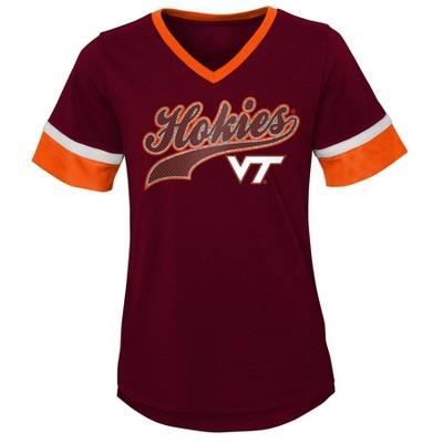 NCAA Virginia Tech Hokies Girls' Short Sleeve V-Neck T-Shirt
