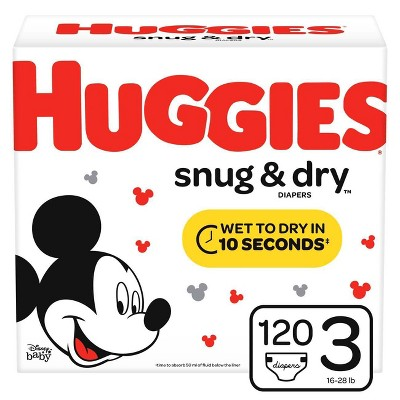 Huggies Snug & Dry Diapers Super Pack - Size 3 (120ct)