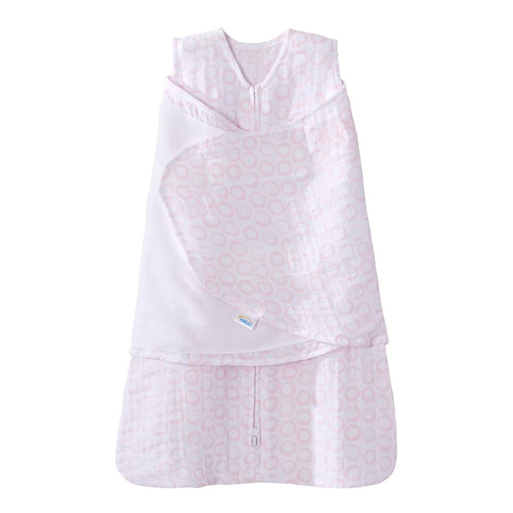 Halo Innovations Sleepsack Pure Cotton Muslin Swaddle - Pink S