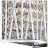"""Possini Euro Design Woven Modern Wall Light Sconce Chrome Hardwired 7 1/2"""" High Fixture Crystal Accents Bedroom Bathroom Hallway - image 4 of 4"""