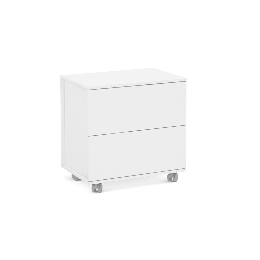 Image of Kent 2 Drawer File Cabinet White - Chique