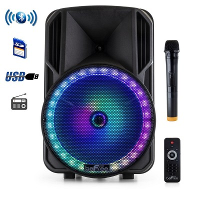 beFree Sound 12in Bluetooth Rechargeable Portable PA Party Speaker