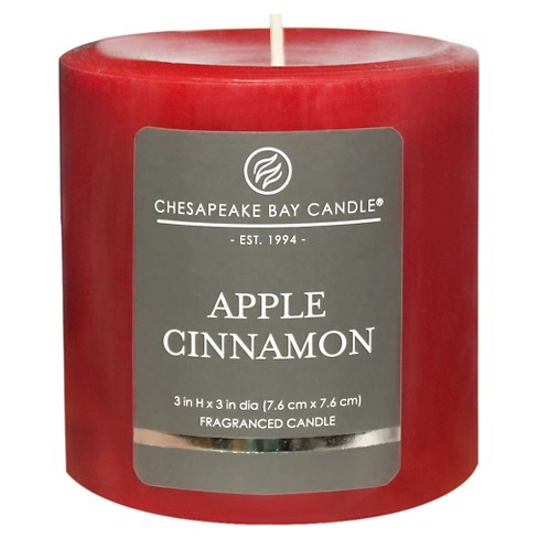 Satin Pillar Candle Apple Cinnamon - Chesapeake Bay Candle - image 1 of 1