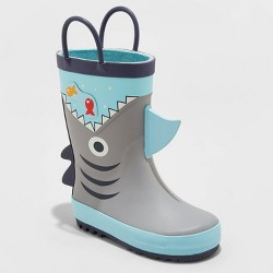 Toddler Boys' Elvin Shark Rain Boots - Cat & Jack™ Gray