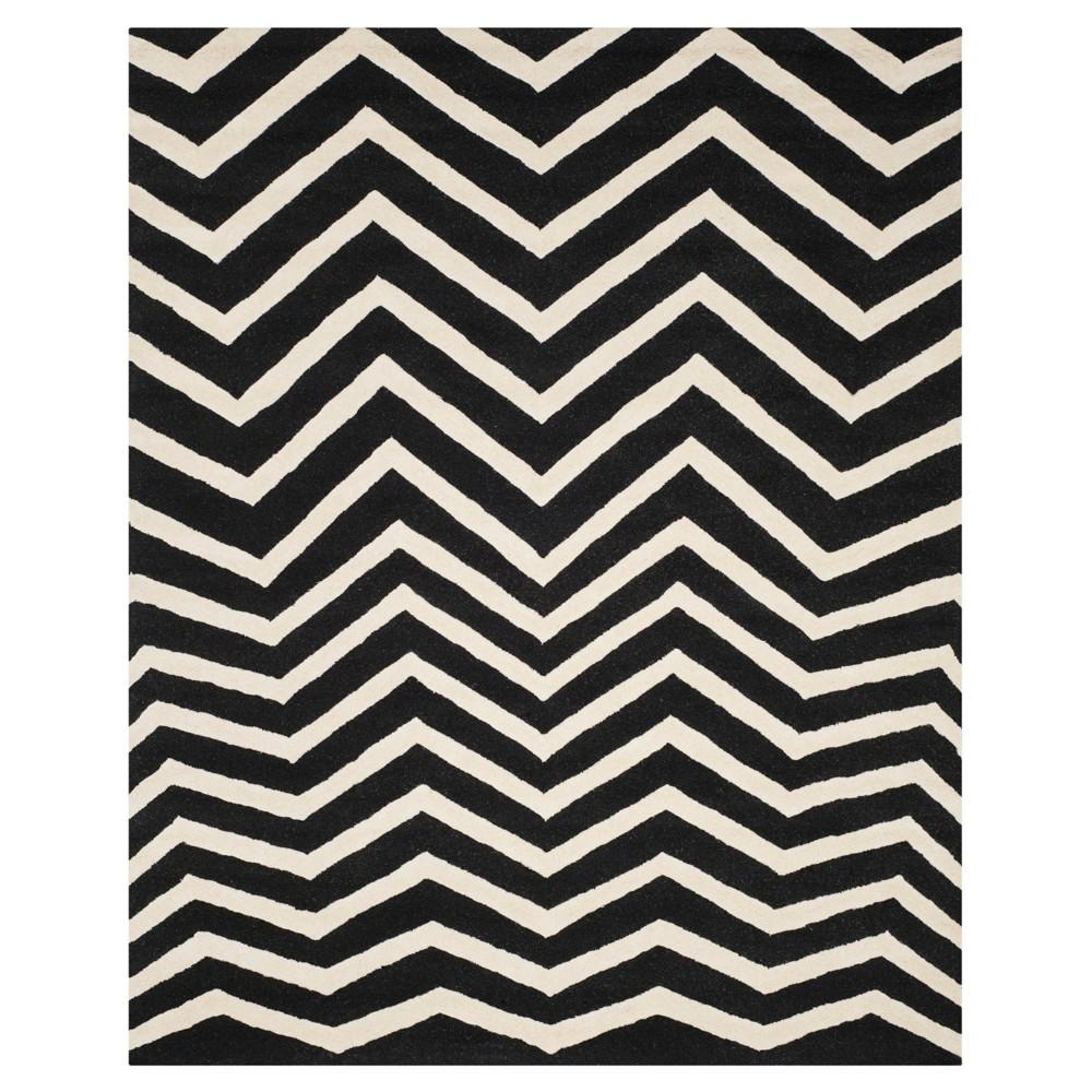 Wilshire Area Rug - Black/Ivory (8' x 10') - Safavieh