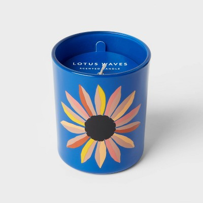 5oz Glass Jar Flower Candle - Room Essentials™