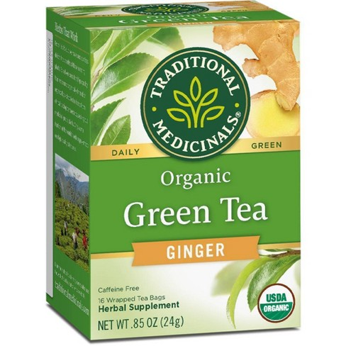 Traditional Medicinals Organic Green Tea with Ginger - 16ct - image 1 of 4
