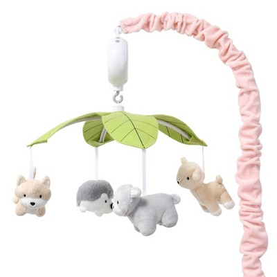 The Peanutshell Woodland Musical Mobile - Pink