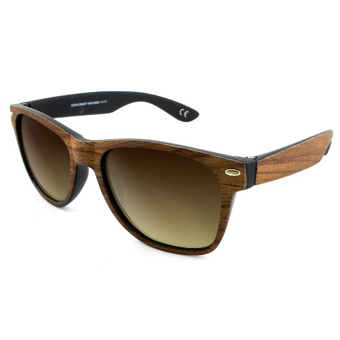 350f480627bb8 Men s Surf Shade Sunglasses with Wooden Textured Frame - Goodfellow   Co™  Brown