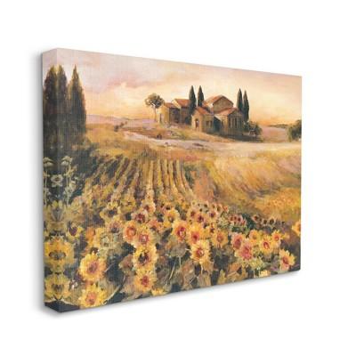 Stupell Industries Italian Villa Autumn Sunflower Field Yellow Green