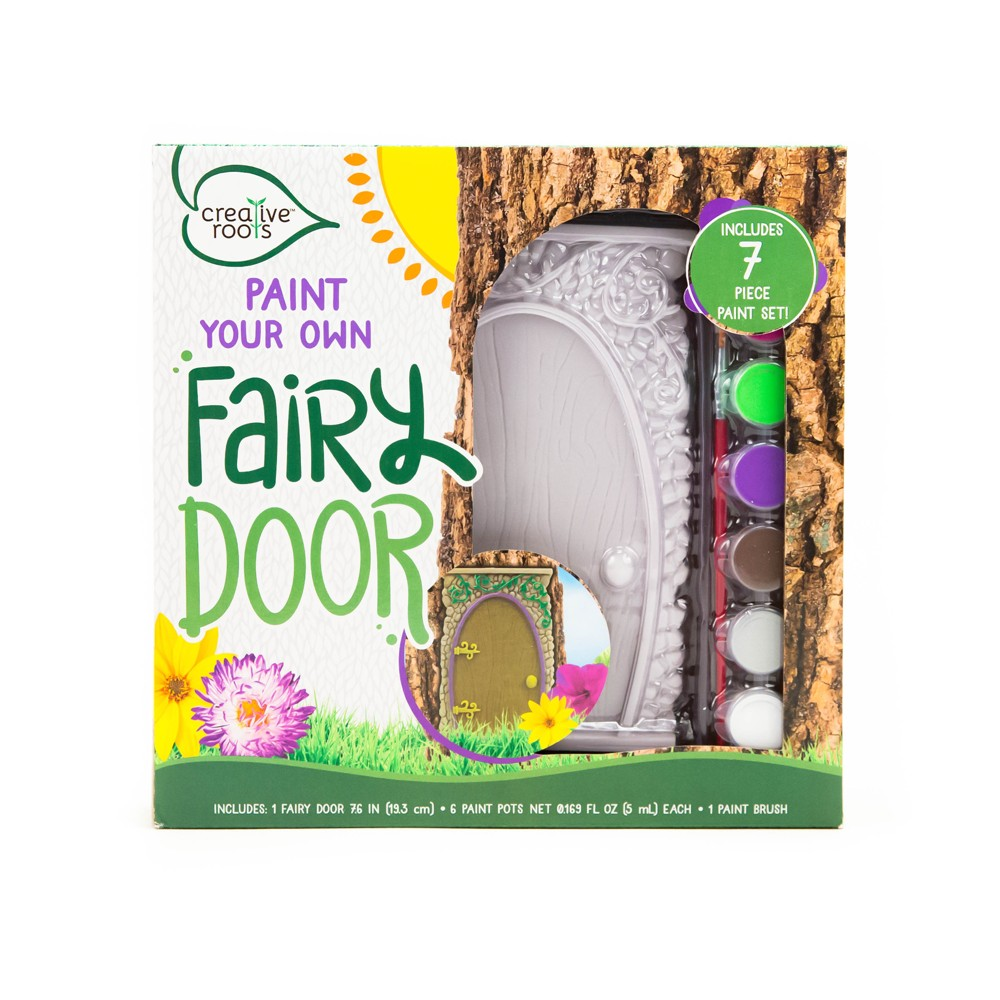 Image of Creative Roots Paint Your Own Fairy Door Kit, White