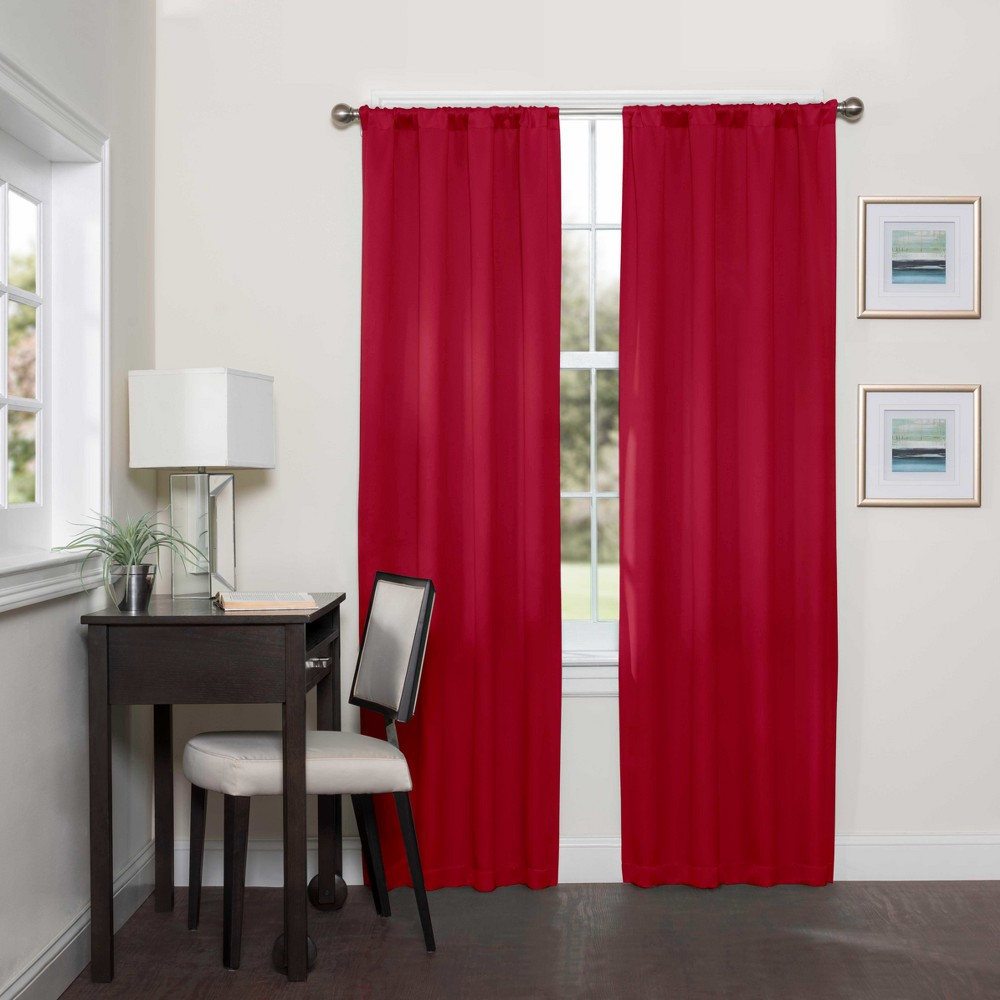 Darrell Thermaweave Blackout Curtain Panels Chili (Red) 95 - Eclipse