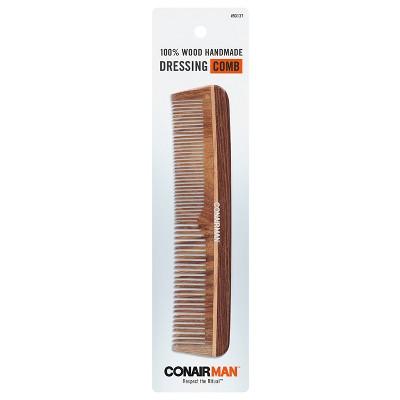 Conair Man Hand Made 100% Wooden Dressing Hair Brush