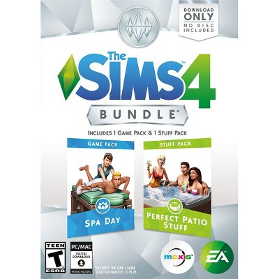 The Sims 4 Bundle: Spa Day and Perfect Patio Stuff PC Game