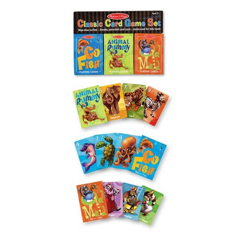 Melissa & Doug® Classic Card Games Set - Old Maid, Go Fish, Rummy - image 1 of 4