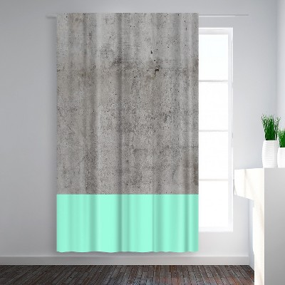 Americanflat Sea On Concrete by Emanuela Carratoni Blackout Rod Pocket Single Curtain Panel 50x84