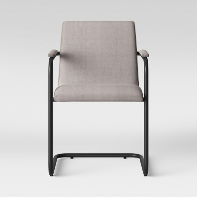 Selwyn Metal and Upholstered Dining Arm Chair Taupe Brown - Project 62™