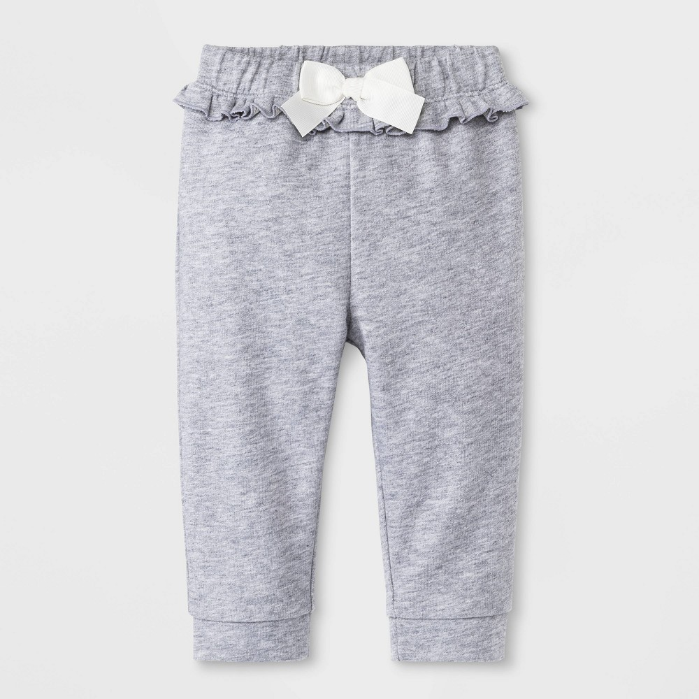 Image of Baby Girls' Terry Jogger Pants - Cat & Jack Heather Gray 0-3M, Girl's