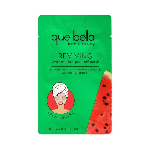 Que Bella Reviving Watermelon Peel Off Face Mask - 0.35oz - image 1 of 4