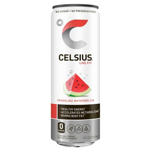 Celsius Sparkling Watermelon Energy Drink - 12 fl oz Can - image 1 of 3