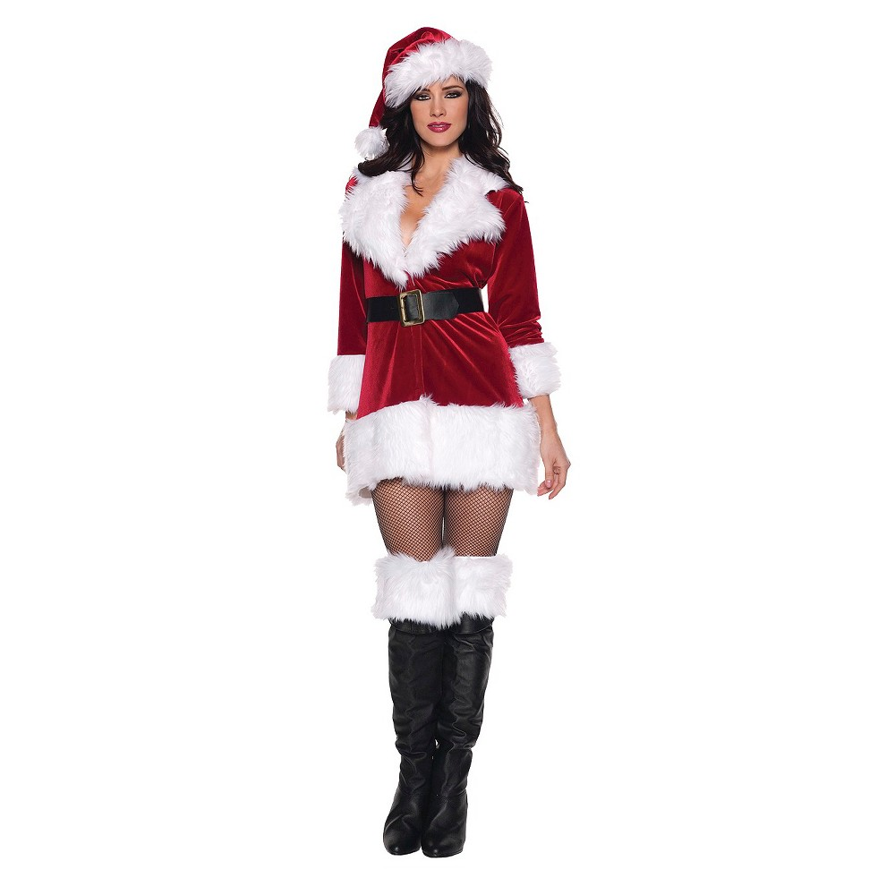 Women's Secret Santa Costume Large, Red