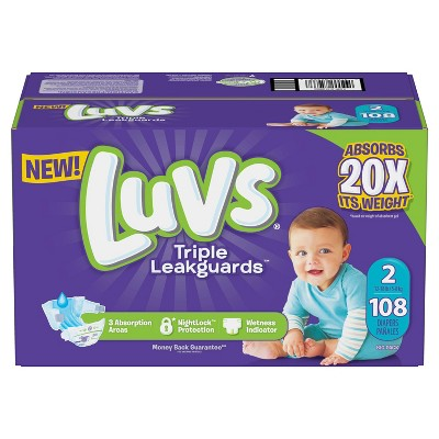 Luvs Disposable Diapers Big Pack - Size 2 - 108ct