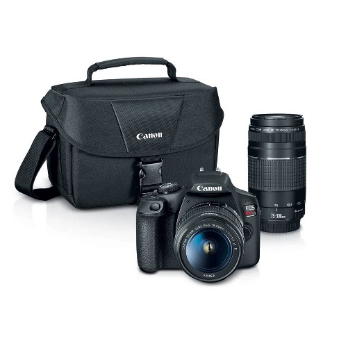 Canon EOS REBEL T7 EF18-55mm + EF 75-300mm Double Zoom KIT - image 1 of 4