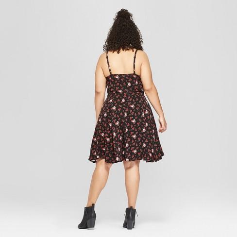 Junk Food Womens Plus Size Grateful Dead Sleeveless A Line Dress