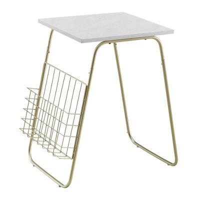 Modern Side Table with Magazine Holder - Saracina Home