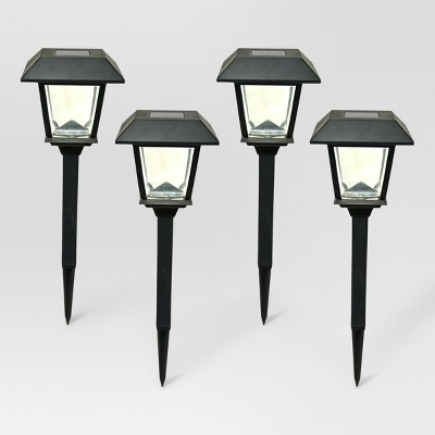 Outdoor LED Path Light Black Square - Threshold™