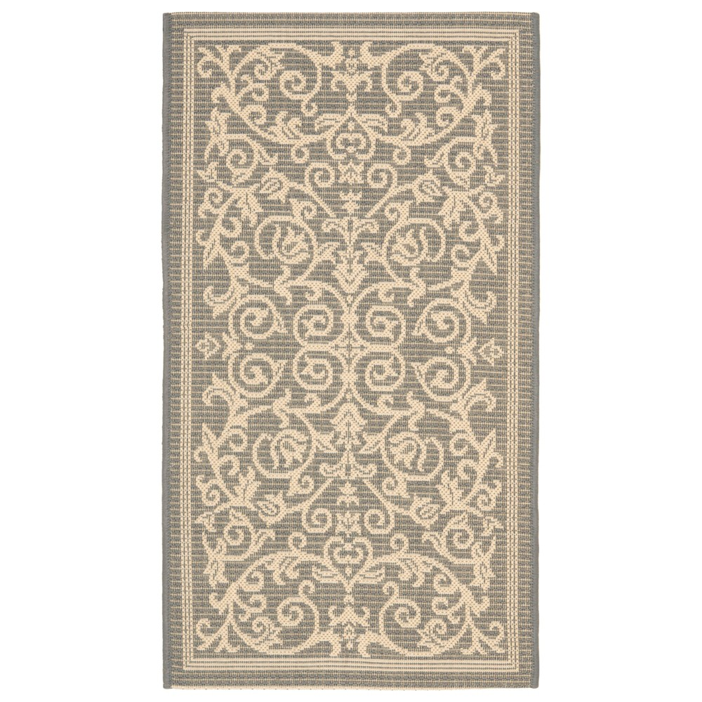 Vaucluse Rectangle 4' X 5'7 Outdoor Rug - Gray / Natural - Safavieh, Gray/Natural