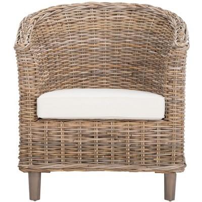 Omni Rattan Barrel Chair  - Safavieh