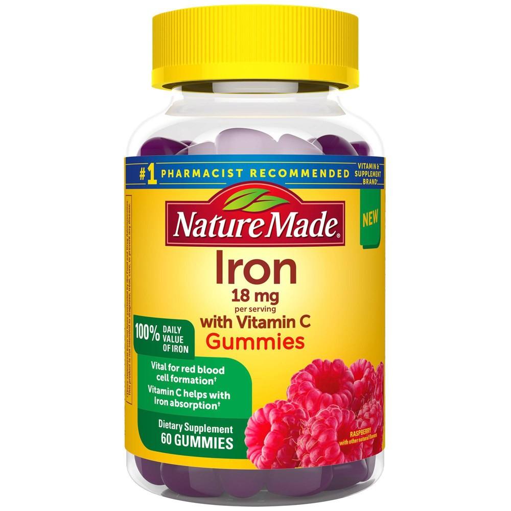 Nature Made Iron Vitamin C 18mg Gummies 60ct