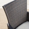 Owen 6pc Aluminum/Wicker Patio Dining Set - Brown - Christopher Knight Home - image 4 of 4