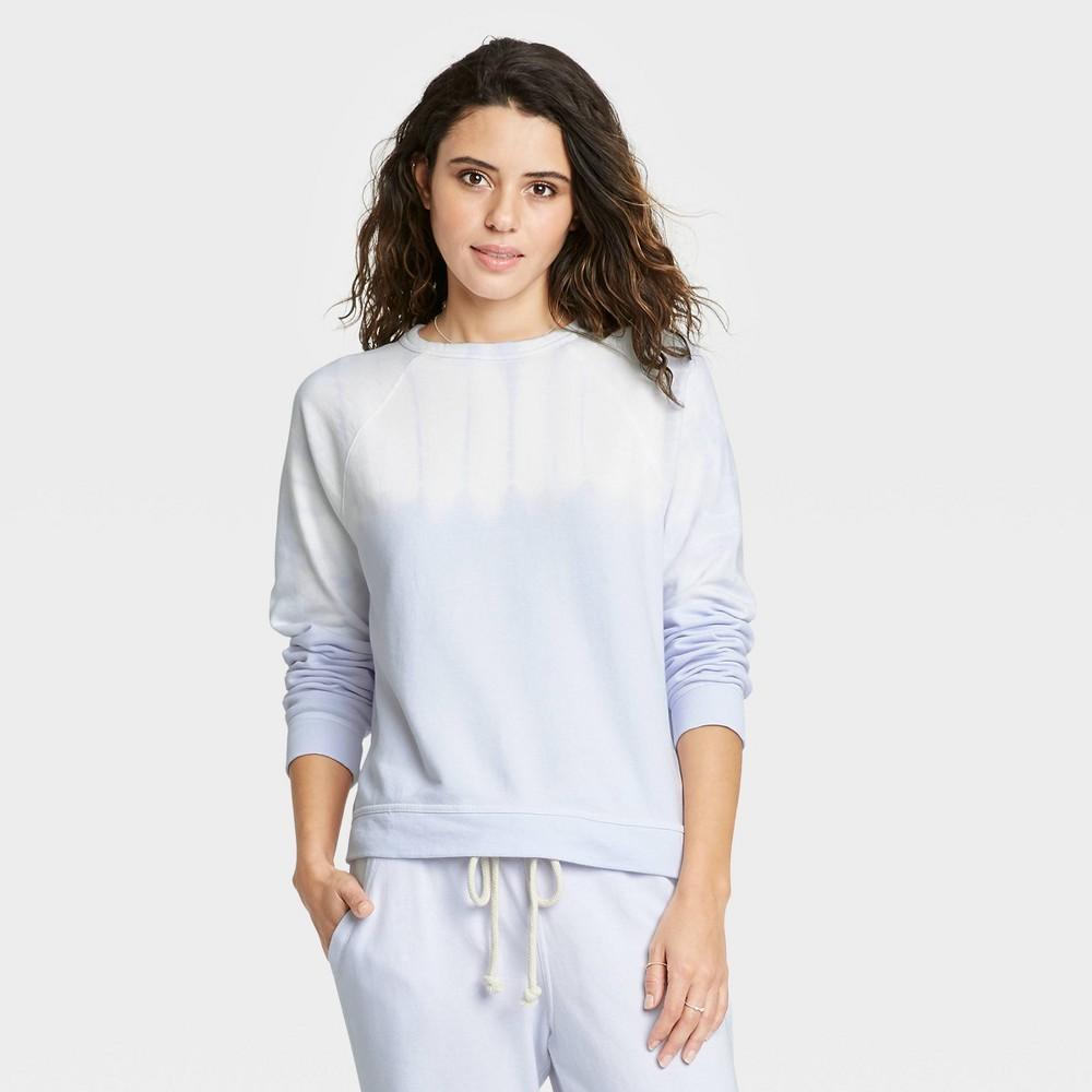 Women 39 S Tie Dye Sweatshirt Universal Thread 8482 Purple White Xs