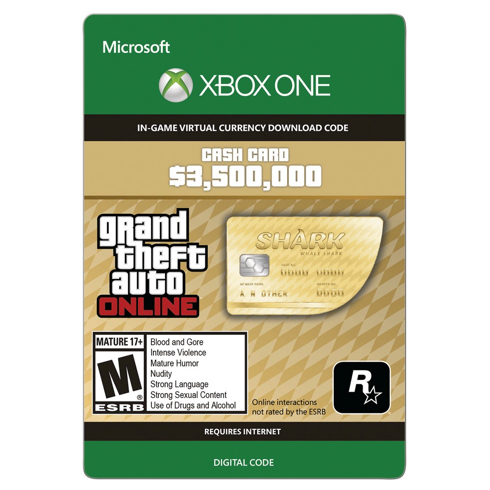 Grand Theft Auto Online: Whale Shark Cash Card - Xbox One (Digital) How download codes work: You'll receive an email with a download code and instructions on how to redeem your purchase directly on your console or online through your console's website.