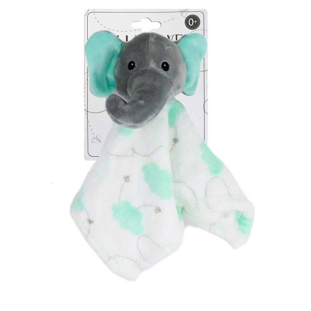 Image of Elle & Jaye Security Blanket Mint Cloud Elephant Lovey